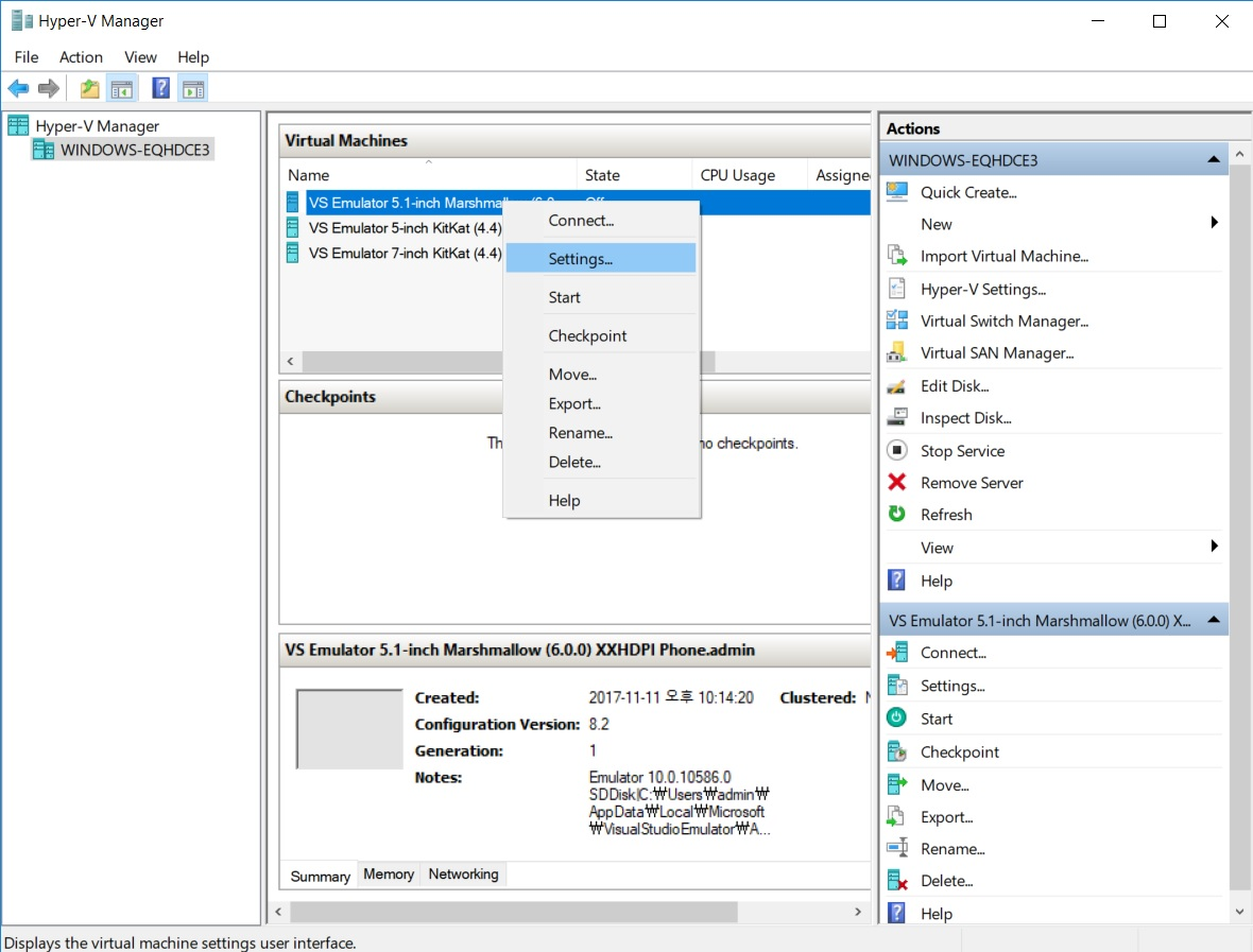 microsoft visual studio emulator for android the installer failed